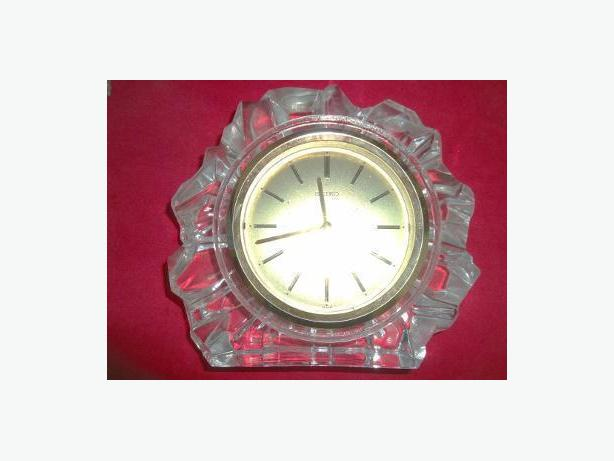 1980's Vintage Seiko Glass & Brass Mantle Clock