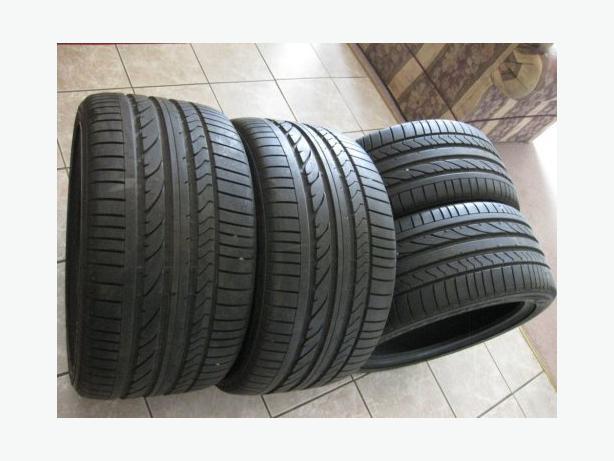 a full set of bridgestone run flat tires 315 35 20 and 275. Black Bedroom Furniture Sets. Home Design Ideas