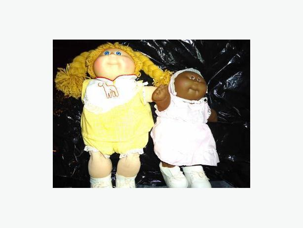 Cabbage Patch Blonde Girl and African American Preemie Girl