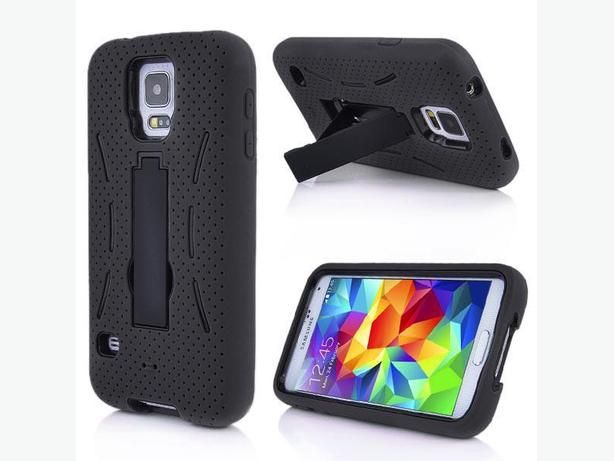 Samsung Galaxy S5 Robot Style Hard Case With Built-In Stand.