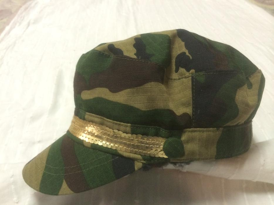 Cadet military camouflage cap hat w gold sequins for 43591 white cap terrace