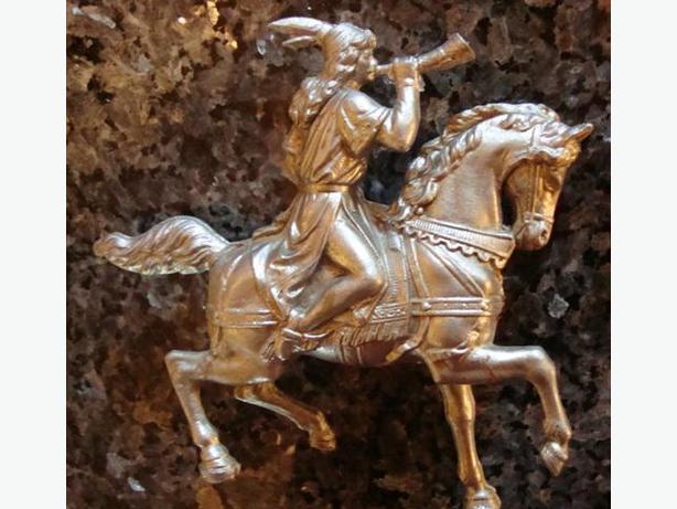 Metal Warrior on horse