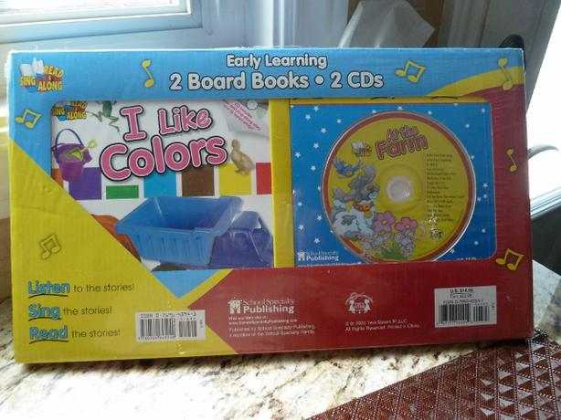 Early Learning Read & Sing Along: 2 Board Books - 2 CDs