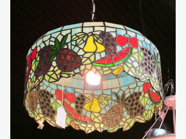 Tiffany Style Leaded Glass Light Fixture I 46074