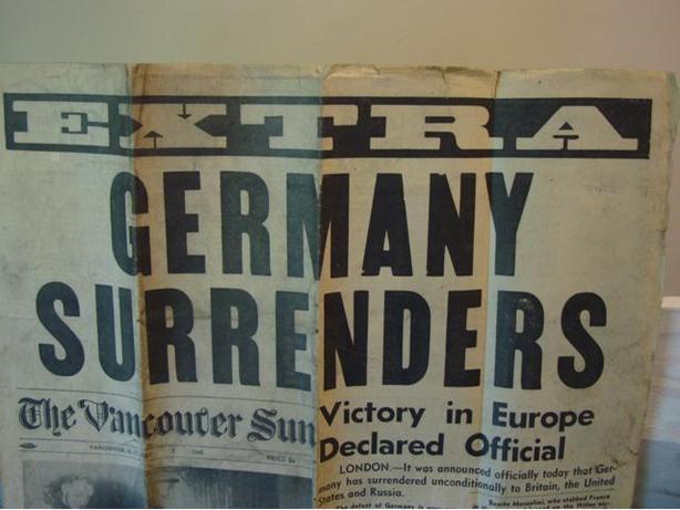 1945 (End world war ) News paper