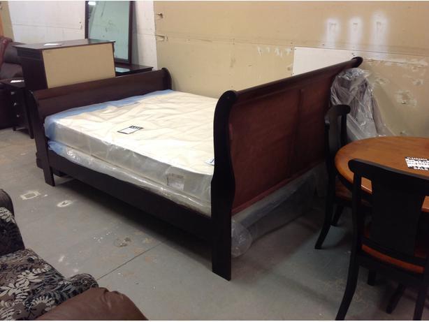 Complete bedroom set..double or queen sleigh bed..brand new.