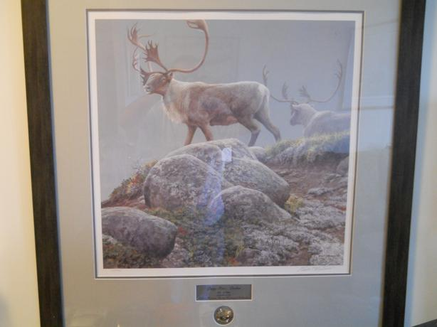 "Robert Bateman  ""George River Caribou"" Framed S/N"