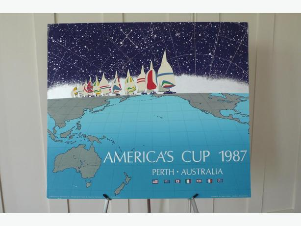 1987 America's Cup Perth-Australia Screen Print