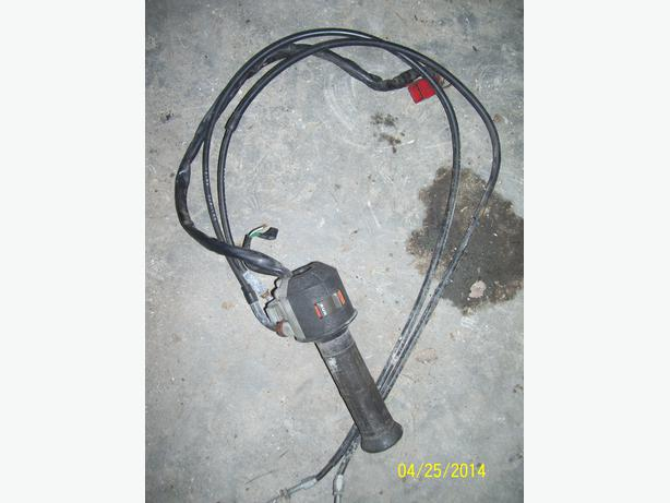 HOnda V45 Magna throttle assembly kill switch throttle cables