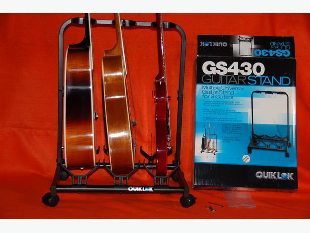 3 x guitar stand quiklok on wheel and brand new gatineau sector quebec ottawa. Black Bedroom Furniture Sets. Home Design Ideas