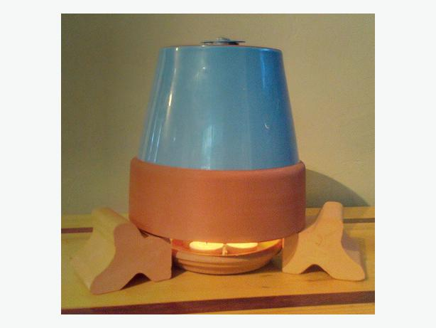 Candle Powered Ceramic Heater Kit Tea Lights Included