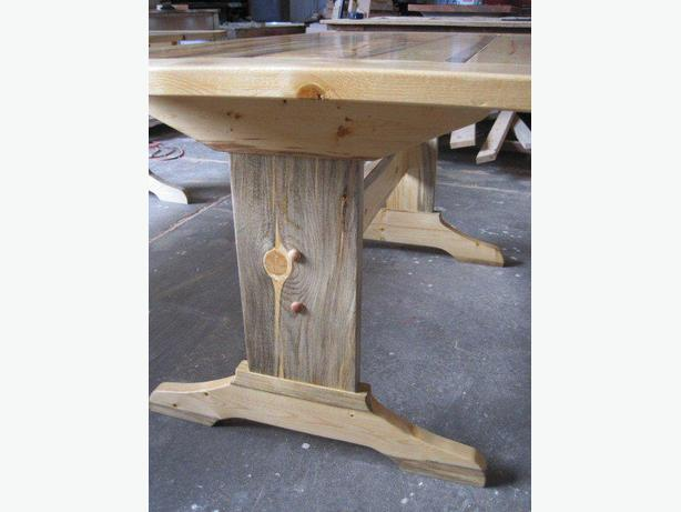 Denim Pine Tables and Matching Decor