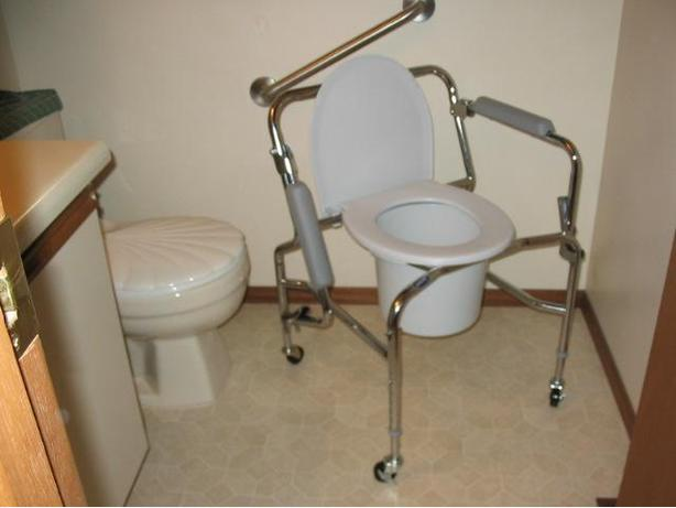 Just Like New Invacare Drop-Handle Commode For sale