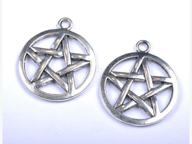 NEW: Silver coloured Pentagram charms $1 each or 12/$5