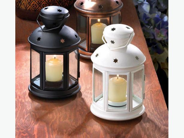 10 Colonial Candleholder Lantern Lamps 2 Colors Black & White Choice Mix&Match