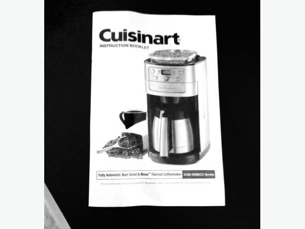 Cuisinart Automatic Burr Grind & Brew Coffeemaker - Silver East Regina, Regina