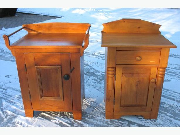 Antique Canadiana Washstands and Storage Cabinets