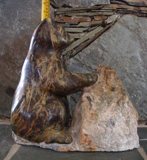 Soapstone bear carving north saanich sidney victoria