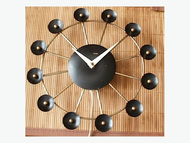 Vintage Mid Century Modern Snider Electric Wall Clock