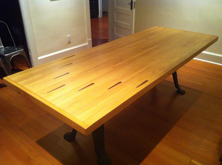 For Auction Dining room table handmade from recycled  : 39012605934 from www.usedvictoria.com size 934 x 697 jpeg 71kB