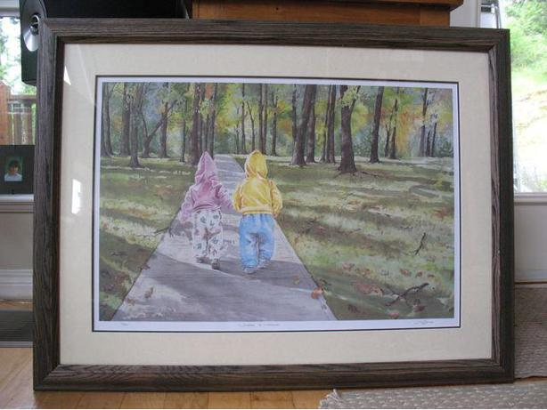 Painting with beautiful wood framing...Christmas gift?