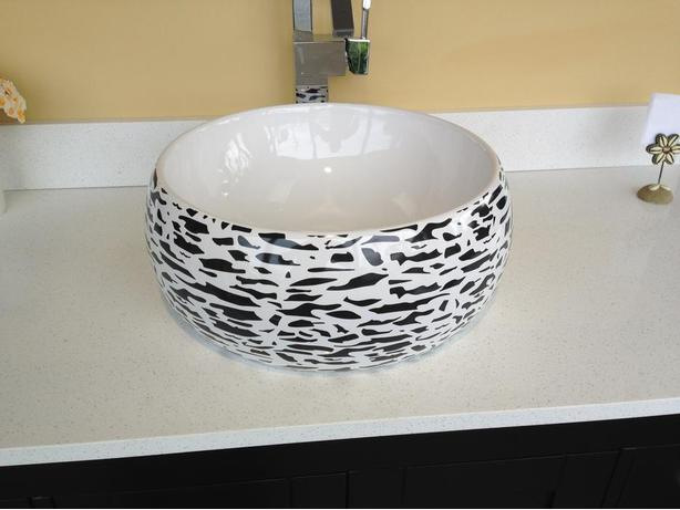 Bathroom Porcelain Ceramic Vessel Sink & Handmade Glass sink