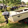 14 foot Crestliner fiberglass boat for sale
