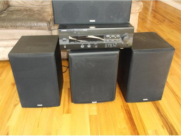 Yamaha 7 pc surround sound system west shore langford for Yamaha surround system review