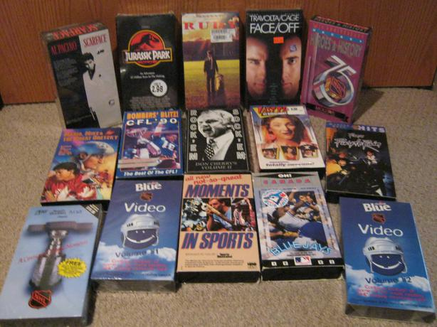 VARIOUS VHS MOVIES AND SPORTS TAPES