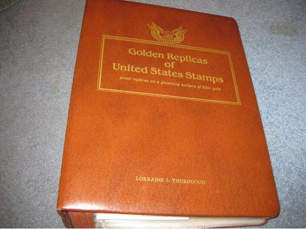 Golden Replicas of United States Stamps-Collection proof 22kt gold surface