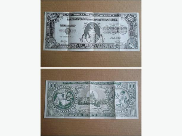 1952 Souvenir of Minnesota novelty 100 dollar bill