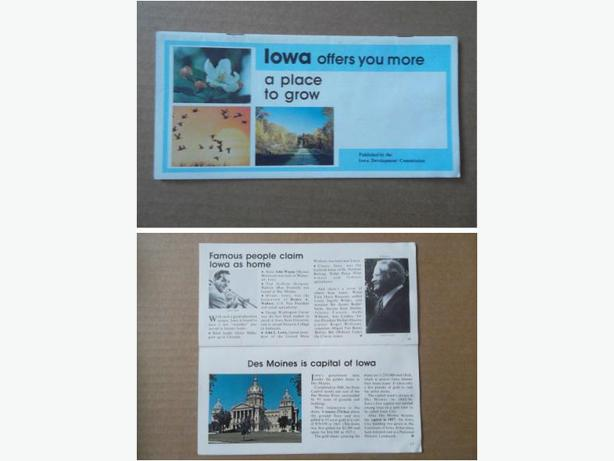 1970's Iowa Tourist Guide Booklet