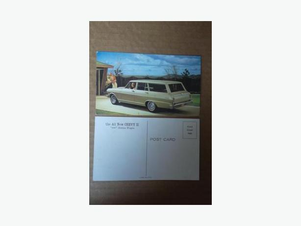 1962 Chevy II station wagon postcard