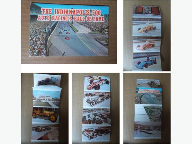1976 Indianapolis 500 Auto Racing's Hall of Fame postcard booklet