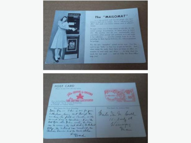 "The ""Mailomat"" postcard"