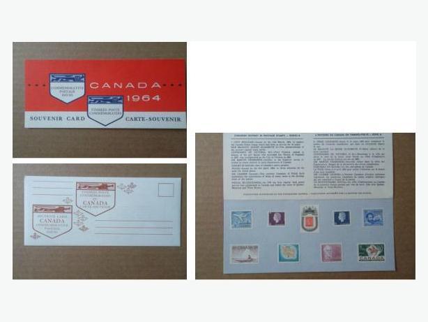 1964 Canada Post Souvenir Card with Envelope