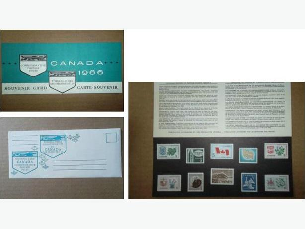 1966 Canada Post Souvenir Card with Envelope