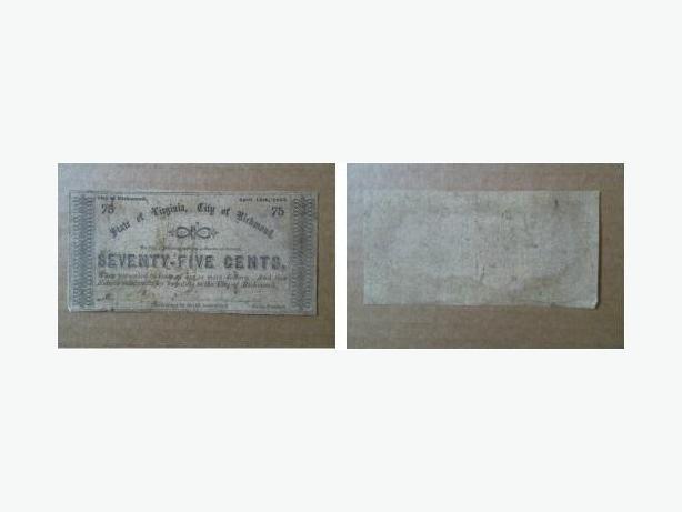 1862 Confederate Civil War banknote