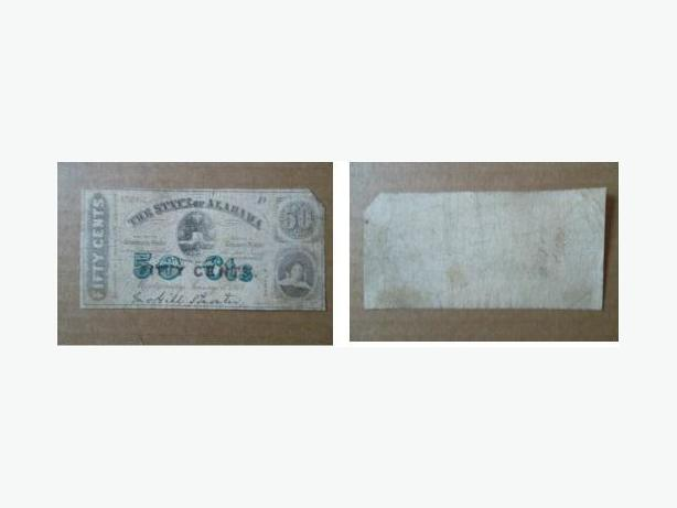1863 Confederate Civil War banknote