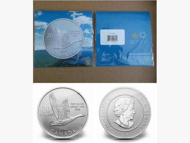2014 Canada $20 Fine Silver Coin (Canada Goose)