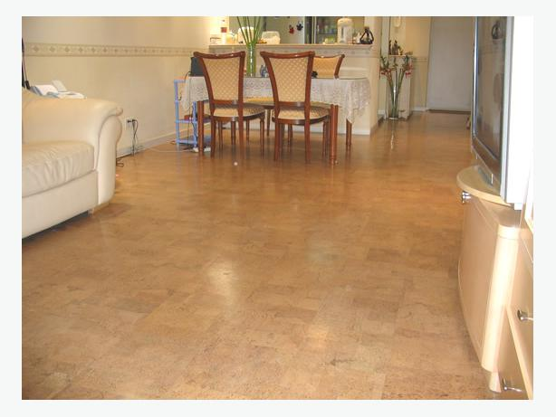 Leather cork floating floor sale price for Leather flooring cost