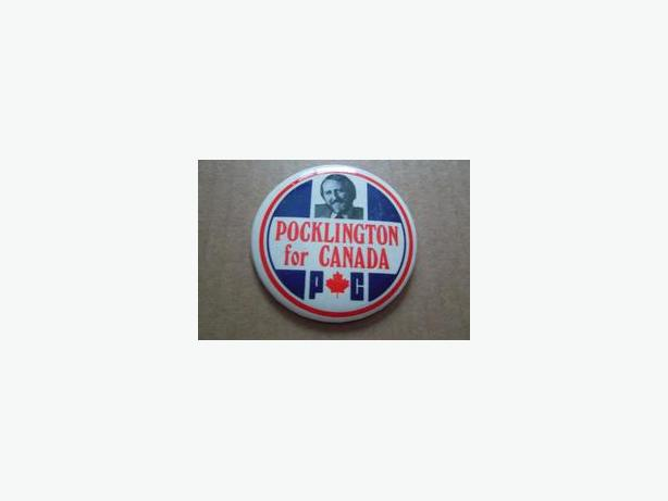 Peter Pocklington (Progressive Conservative) campaign button