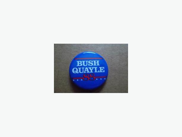 George Bush/Dan Quayle campaign button