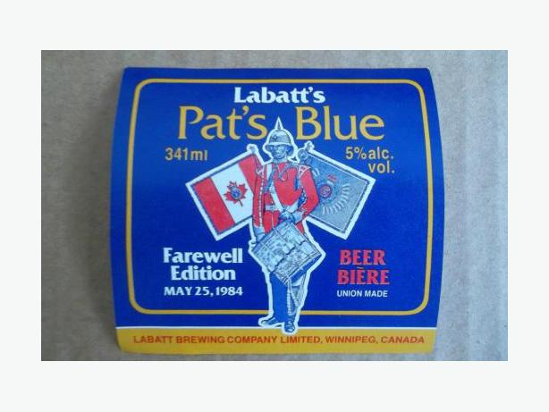 Labatt (Princess Patricia's Canadian Light Infantry) beer bottle label