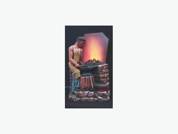1920's Gritt Blacksmith Motion Lamp