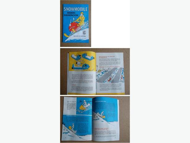 Early 1970's Province of Manitoba Snowmobile Riders Handbook