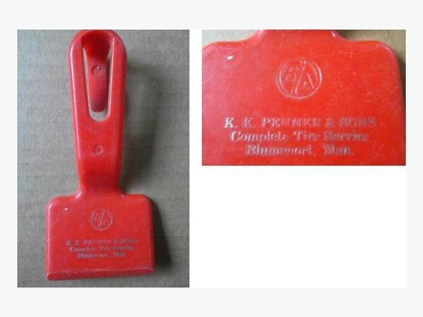 B/A (British American Oil Company) ice scraper