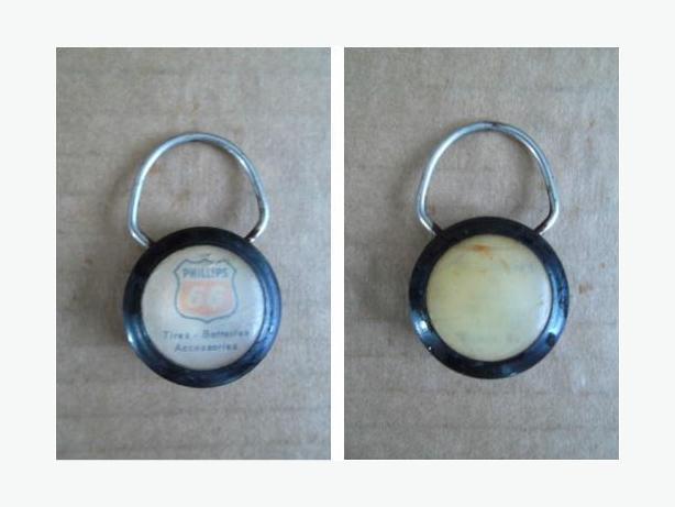 Phillips 66 plastic key tag