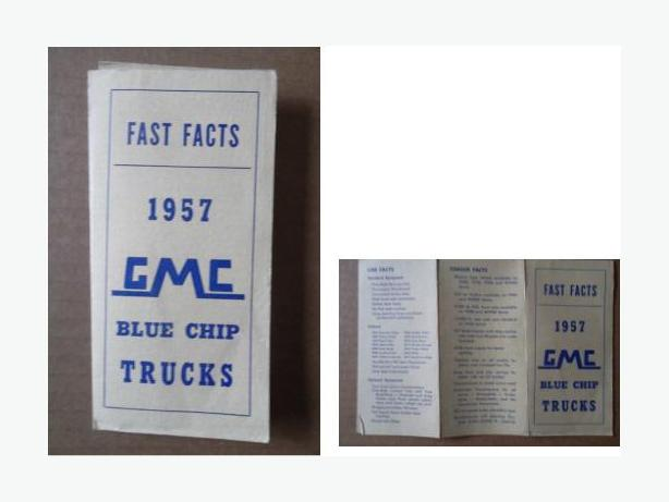 1957 GMC Trucks Booklet