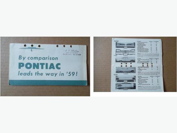 1959 Pontiac Booklet